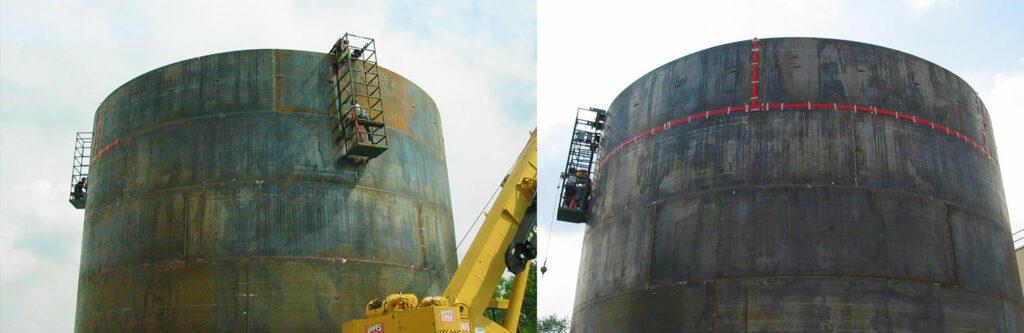 Chemical holding tanks